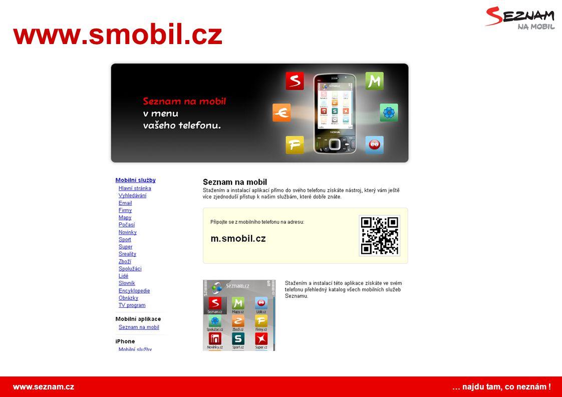www.seznam.cz … najdu tam, co neznám ! www.smobil.cz