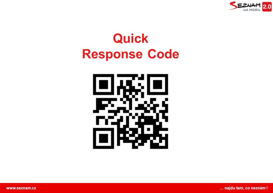 www.seznam.cz … najdu tam, co neznám ! Quick Response Code
