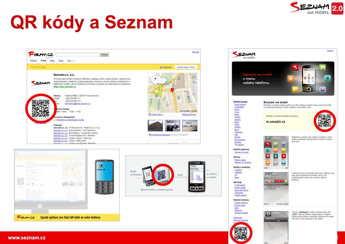 www.seznam.cz … najdu tam, co neznám ! QR kódy a Seznam