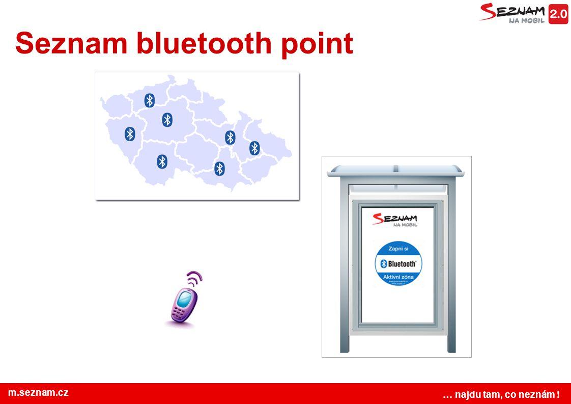 www.seznam.cz … najdu tam, co neznám ! m.seznam.cz Seznam bluetooth point