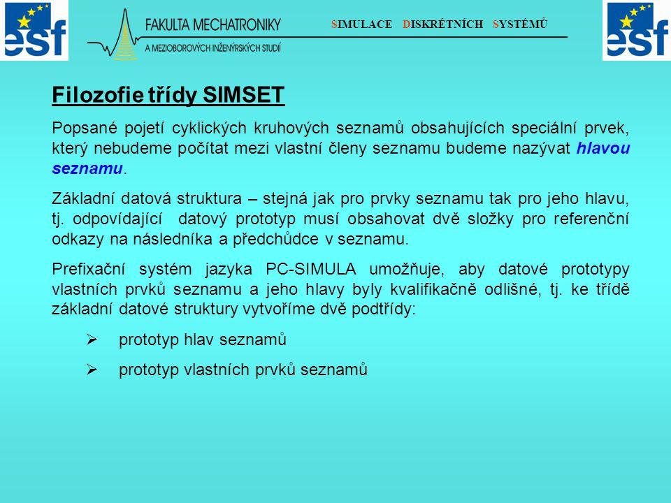 SIMULACE DISKRÉTNÍCH SYSTÉMŮ V třídě SIMSET je takové kvalifikační odlišení realizováno.