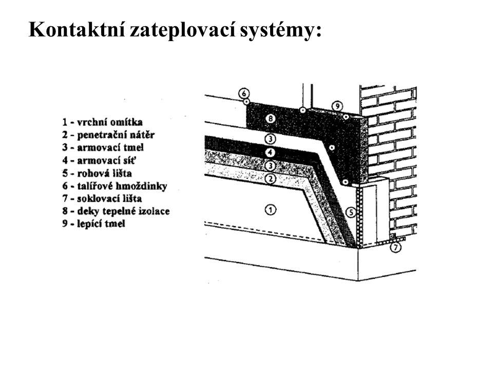 SEZNAM PŘÍLOH Kontaktní zateplovací systémy: