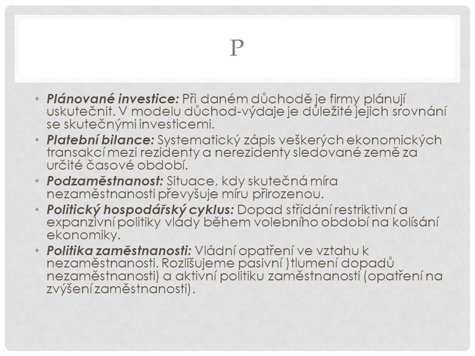 P Poptávková inflace: Pramení ze strany agregátní poptávky (AD).