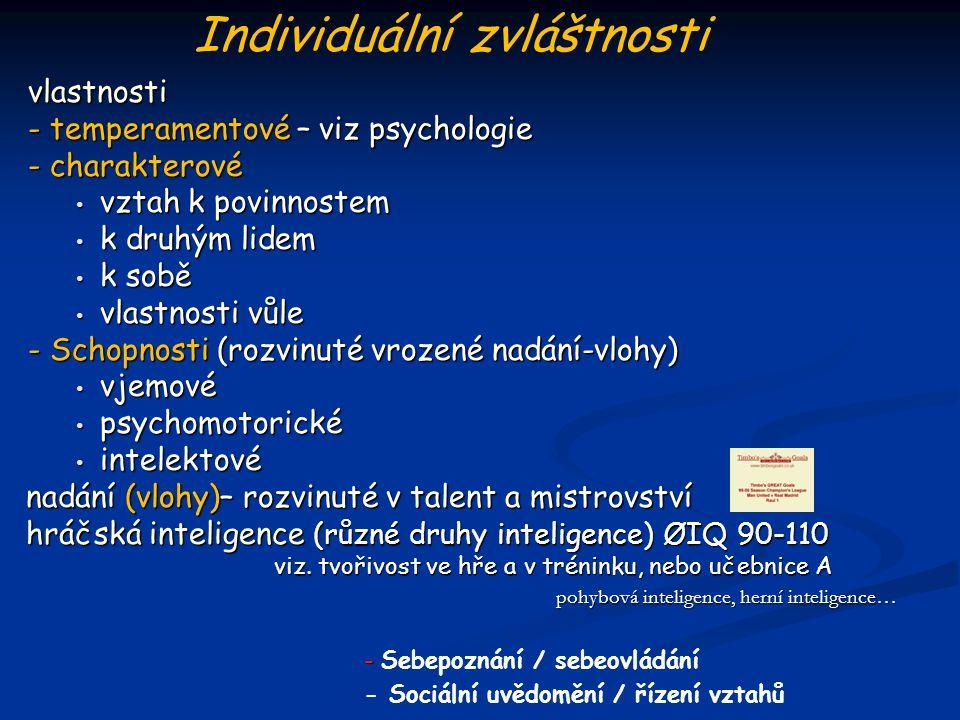 vlastnosti - temperamentové – viz psychologie - charakterové vztah k povinnostem vztah k povinnostem k druhým lidem k druhým lidem k sobě k sobě vlast