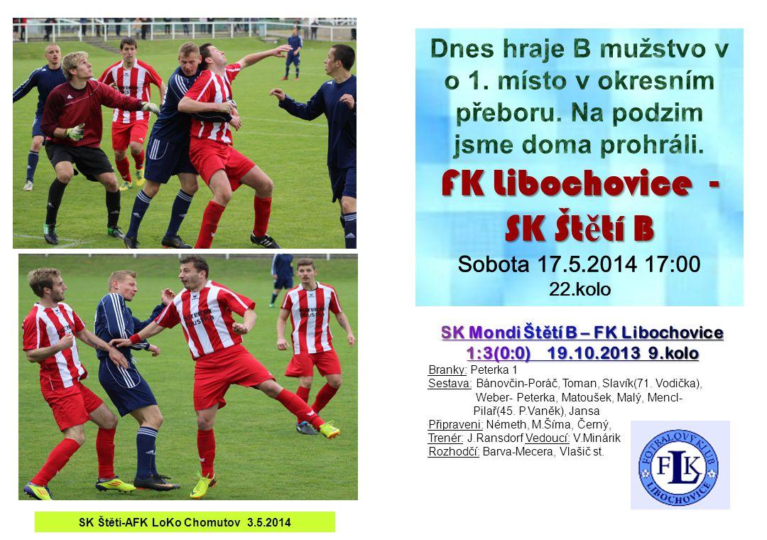 SK Štětí-AFK LoKo Chomutov 3.5.2014