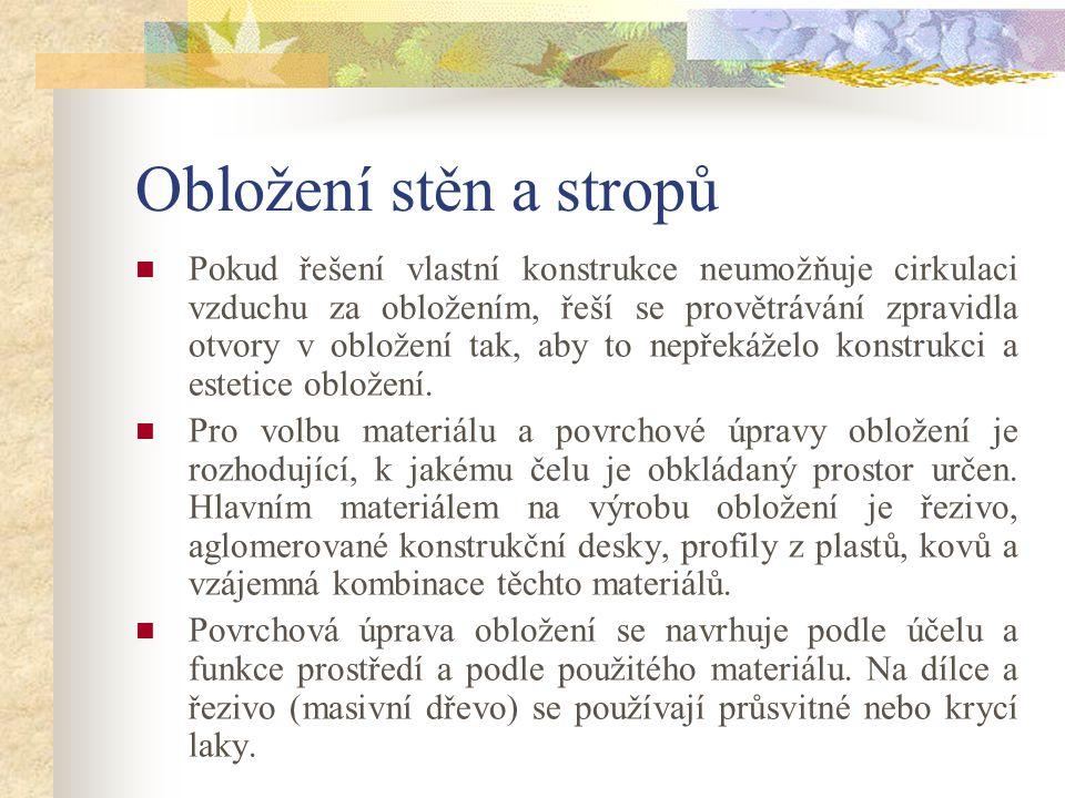 Hladké omyvatelné obložení Obr.