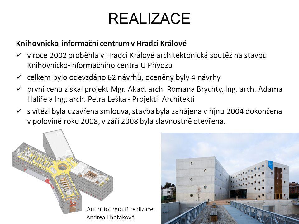 REALIZACE Knihovnicko-informační centrum v Hradci Králové v roce 2002 proběhla v Hradci Králové architektonická soutěž na stavbu Knihovnicko-informačn