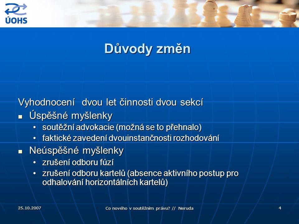 25.10.2007 Co nového v soutěžním právu.// Neruda 25 Telefónica O2 (ÚS, II.