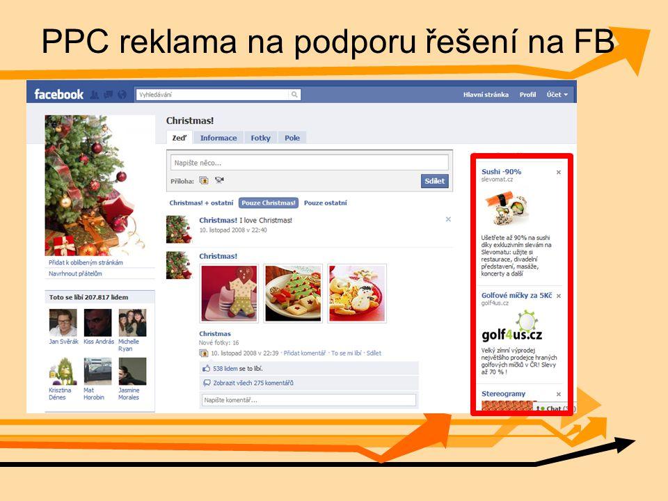 PPC reklama na podporu řešení na FB