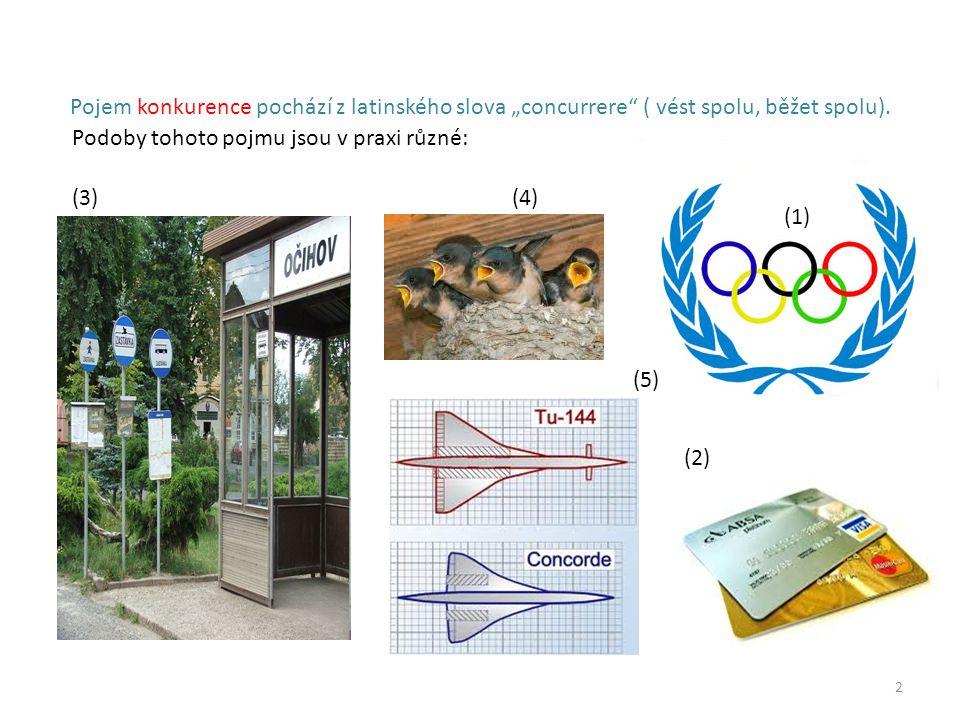 """2 Pojem konkurence pochází z latinského slova """"concurrere ( vést spolu, běžet spolu)."""