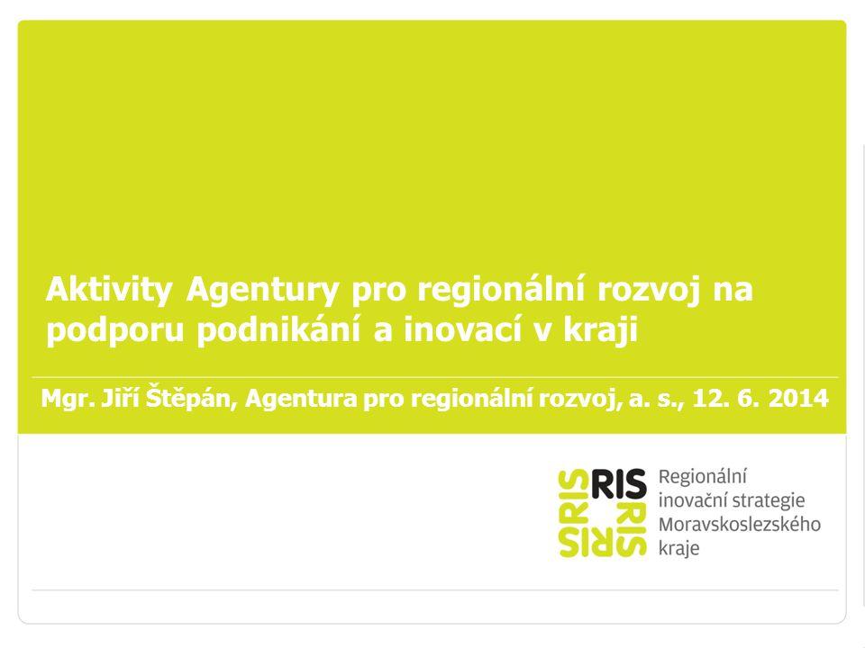 Podpora podnikání v Moravskoslezském kraji Aktivity Agentury pro regionální rozvoj na podporu podnikání a inovací v kraji Mgr.