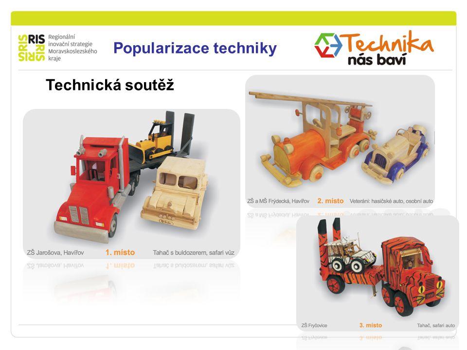 Podpora podnikání v Moravskoslezském kraji Popularizace techniky Technická soutěž