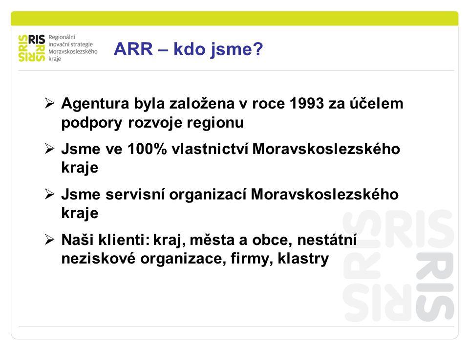 Podpora podnikání v Moravskoslezském kraji ARR – kdo jsme.