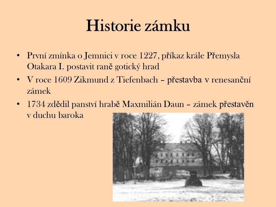 Historie zámku První zmínka o Jemnici v roce 1227, p ř íkaz krále P ř emysla Otakara I.