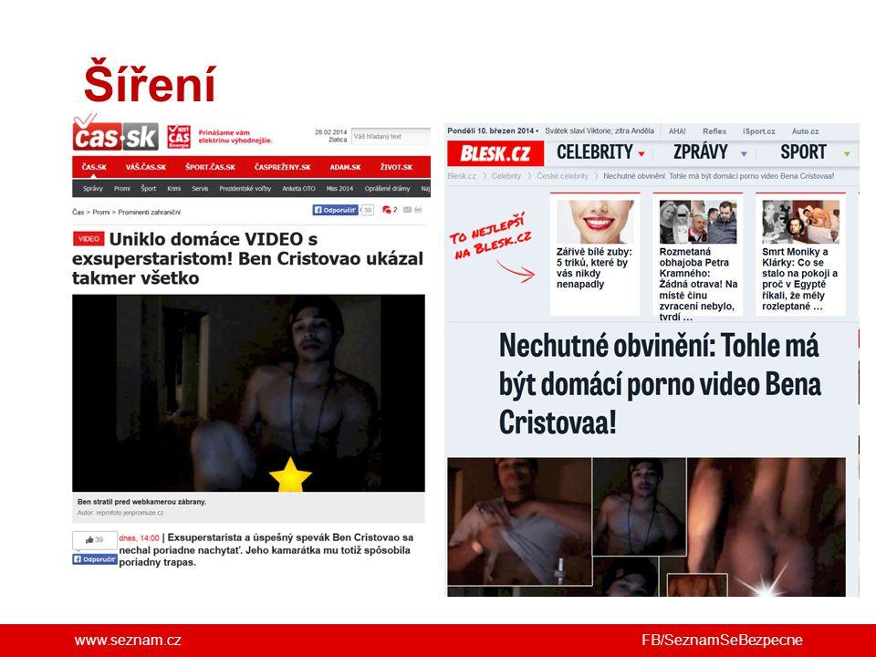 www.seznam.cz Šíření FB/SeznamSeBezpecne
