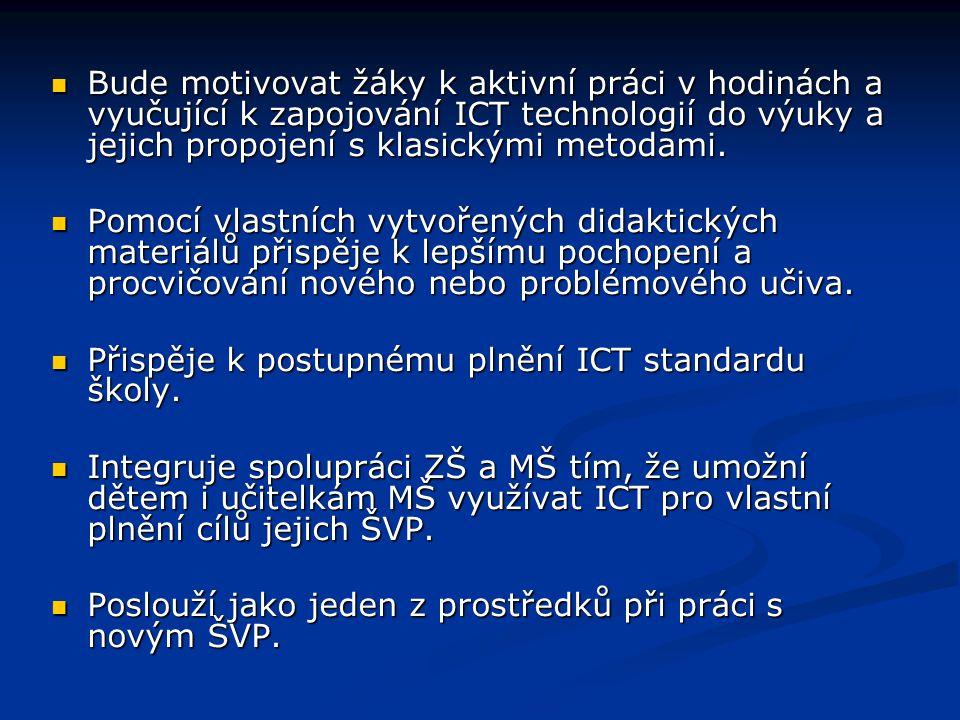 Technické požadavky: Program je vytvořen MS Power Point a SW SMARTBoard SW 9.45.