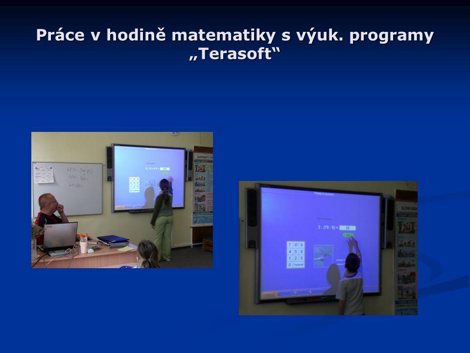 """Práce v hodině matematiky s výuk. programy """"Terasoft"""""""