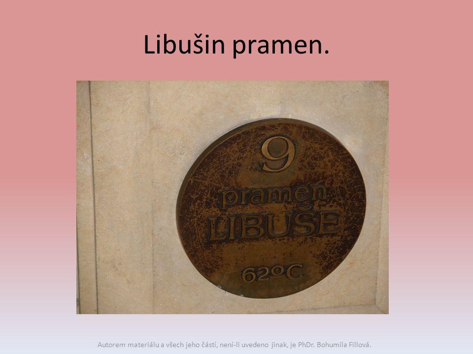 Libušin pramen. Autorem materiálu a všech jeho částí, není-li uvedeno jinak, je PhDr. Bohumila Fillová.