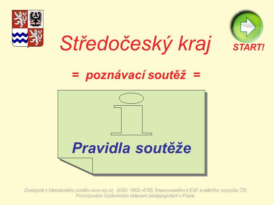 Středočeský kraj = poznávací soutěž = Pravidla soutěže Pravidla soutěže START.