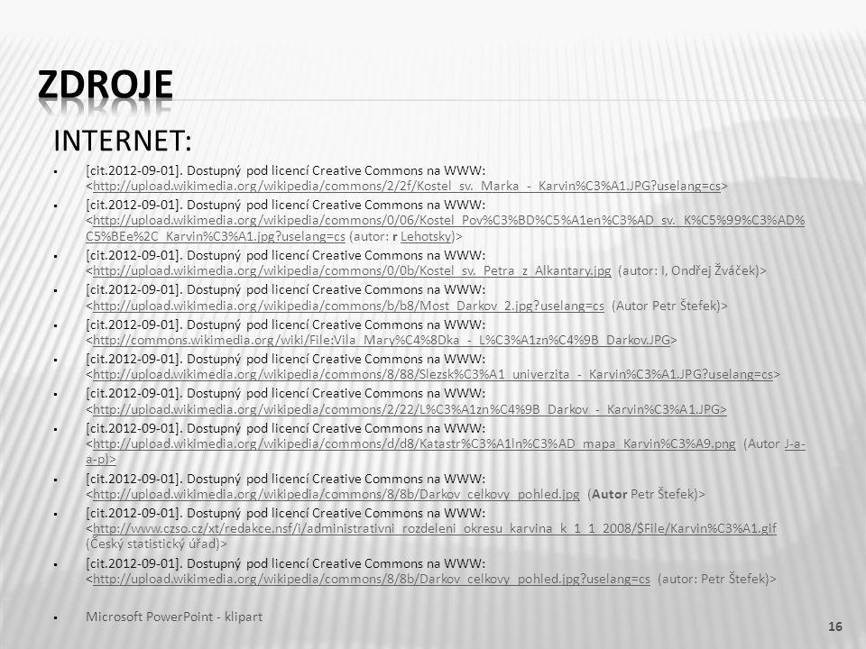 INTERNET:  [cit.2012-09-01]. Dostupný pod licencí Creative Commons na WWW: http://upload.wikimedia.org/wikipedia/commons/2/2f/Kostel_sv._Marka_-_Karv