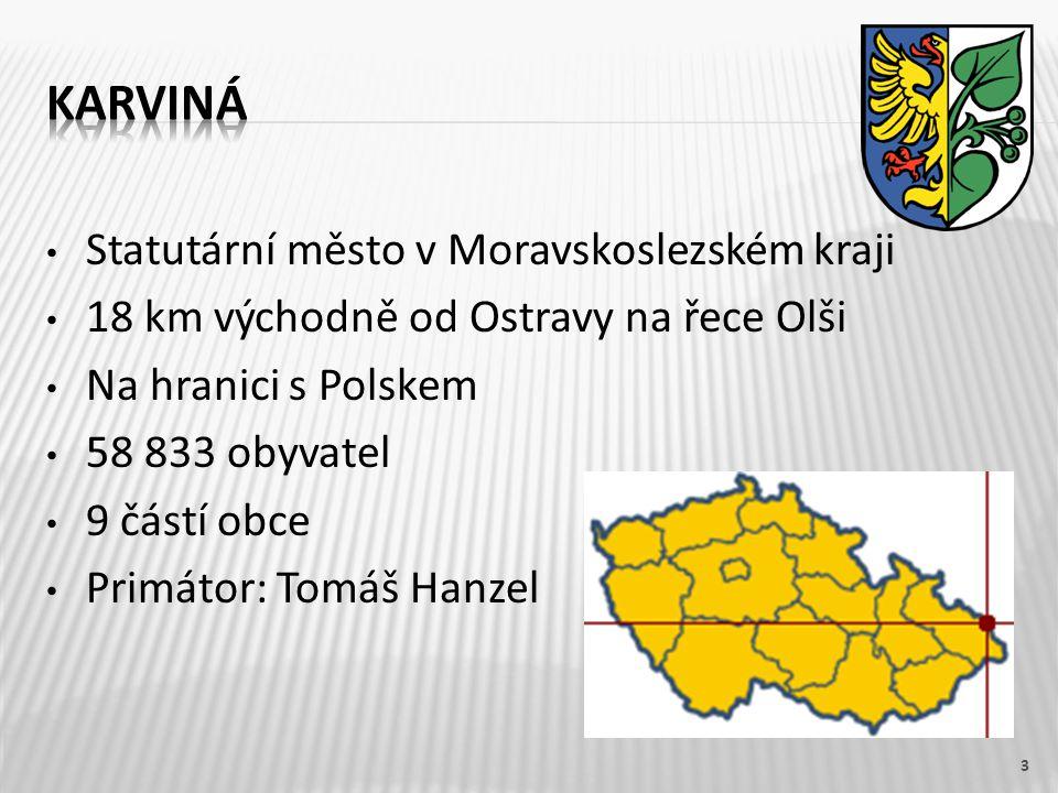 1.Najdi na mapě ČR město Karviná.2.Kolik má Karviná obyvatel.