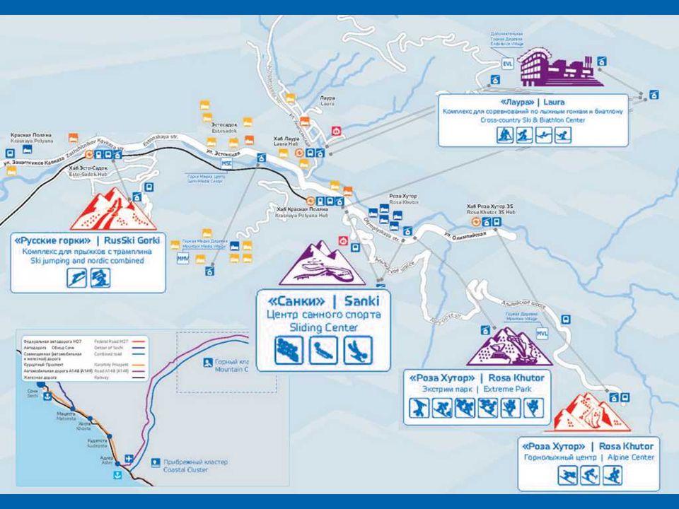 """Krasnaja Poljana je největším ruským lyžařským střediskem, nazývaným také """"Ruské Švýcarsko"""