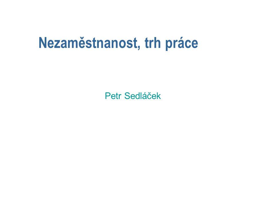 Nezaměstnanost, trh práce Petr Sedláček