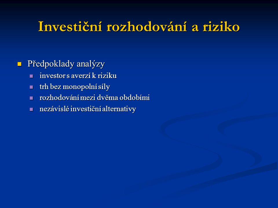 Investiční rozhodování a snižování rizika diverzifikací aktivum – něco, co přináší svému vlastníkovi příjem (např.