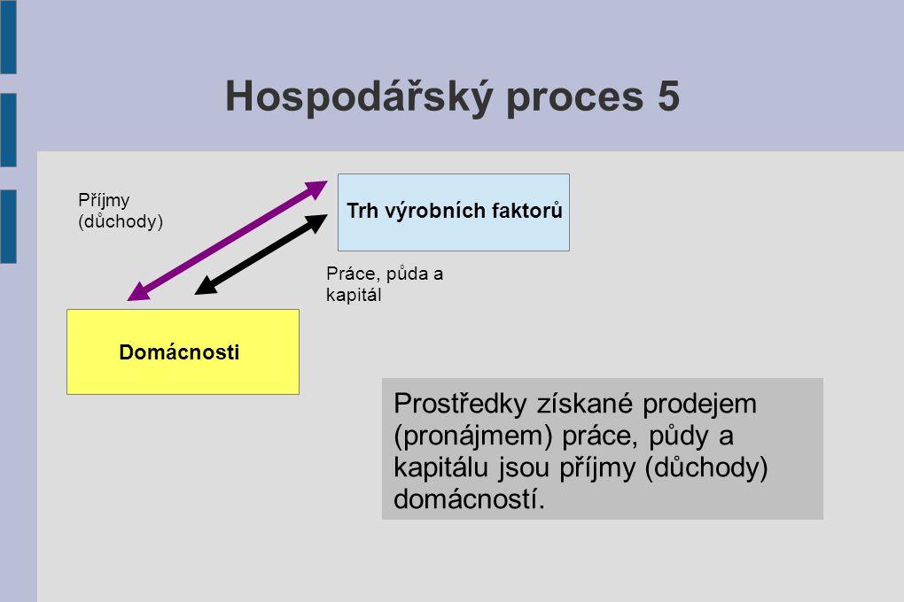 Hospodářský proces 6 Firmy Zisk je hlavním motivem firem pro vstup na trh.