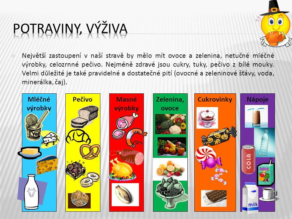 4  Největší zastoupení v naší stravě by mělo mít ovoce a zelenina, netučné mléčné výrobky, celozrnné pečivo.