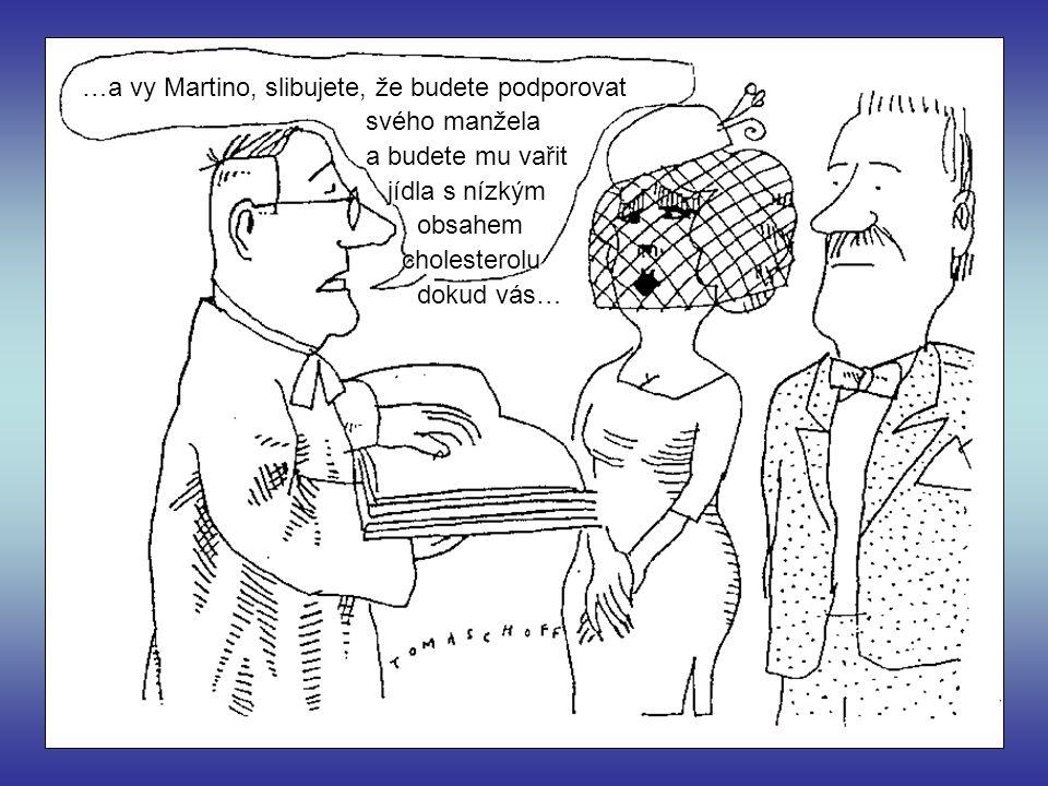 …a vy Martino, slibujete, že budete podporovat svého manžela a budete mu vařit jídla s nízkým jídla s nízkým obsahem obsahem cholesterolu cholesterolu