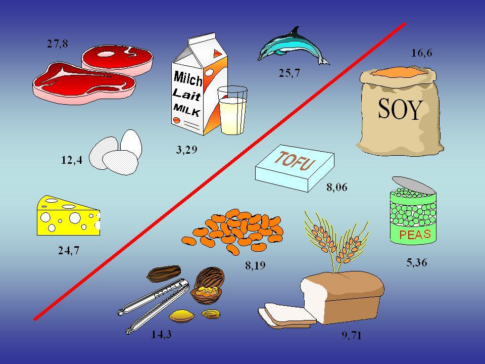 Pozice Americké Dietní Asociace (2) Ačkoli většina vegetariánské stravy splňuje nebo převyšuje Doporučené Stravovací Příděly bílkovin, většinou obsahuje méně bílkovin než nevegetariánská strava.