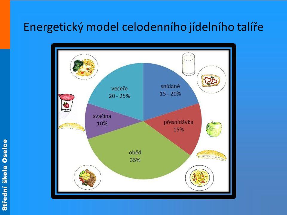 Střední škola Oselce Energetický model celodenního jídelního talíře