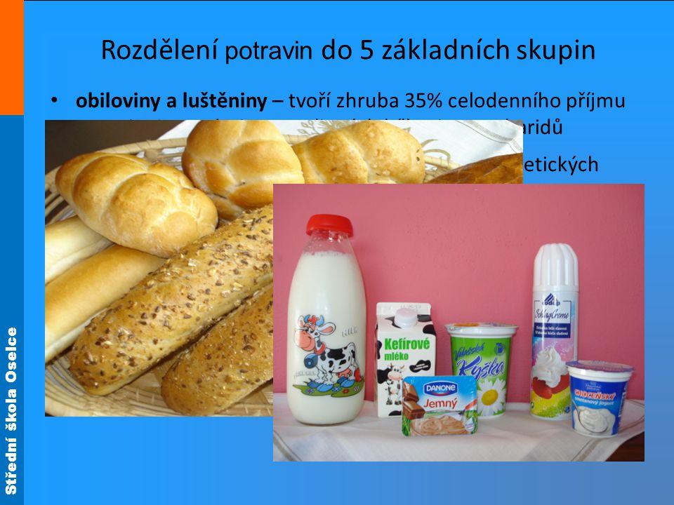 Střední škola Oselce Mléko a mléčné výrobky jsou nositeli : rostlinných bílkovin živočišných bílkovin