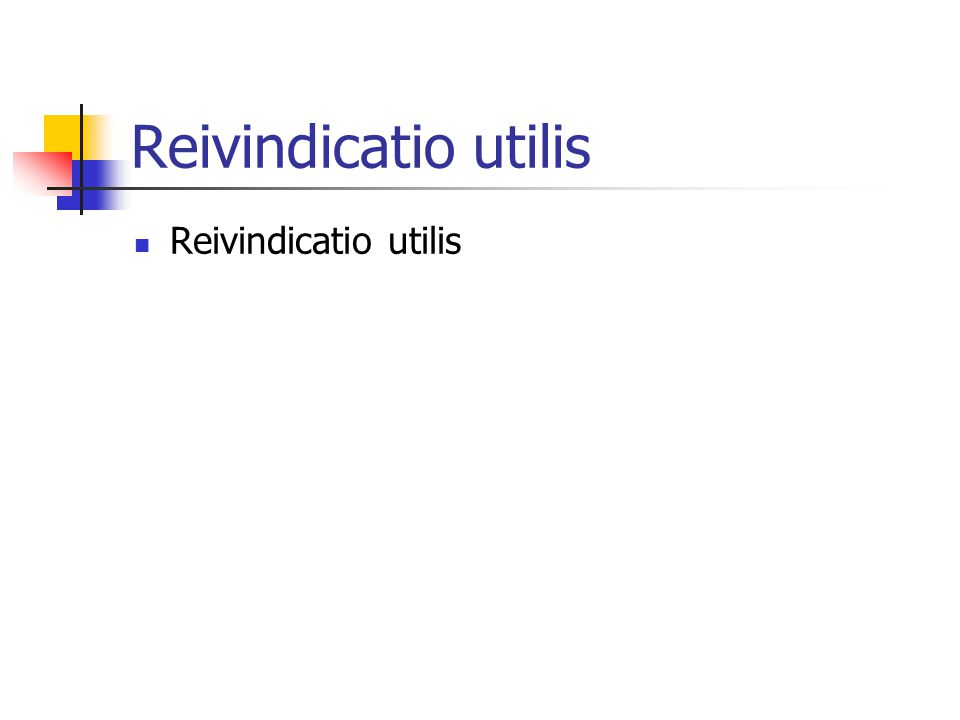 Reivindicatio utilis