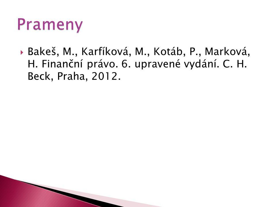  Bakeš, M., Karfíková, M., Kotáb, P., Marková, H.