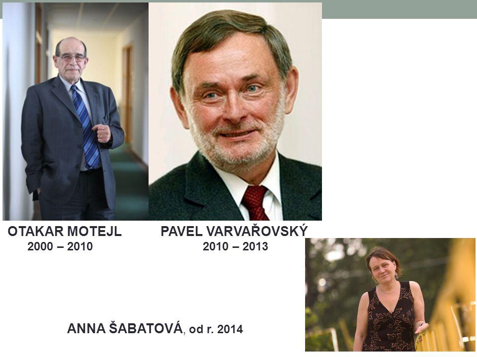 OTAKAR MOTEJL PAVEL VARVAŘOVSKÝ 2000 – 2010 2010 – 2013 ANNA ŠABATOVÁ, od r. 2014