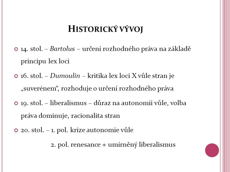 """P ODSTATA VOLBY PRÁVA (1) Autonomie vůle jakožto zdroj práva liberalistický přístup strany vztahu = """"zákonodárci vs."""