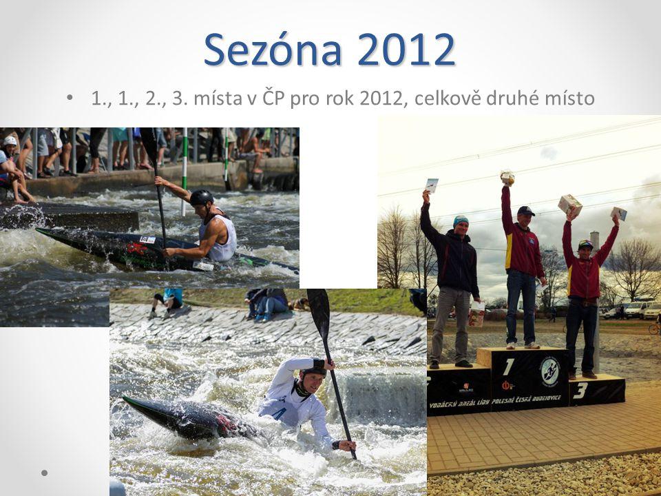 Sezóna 2012 1., 1., 2., 3. místa v ČP pro rok 2012, celkově druhé místo