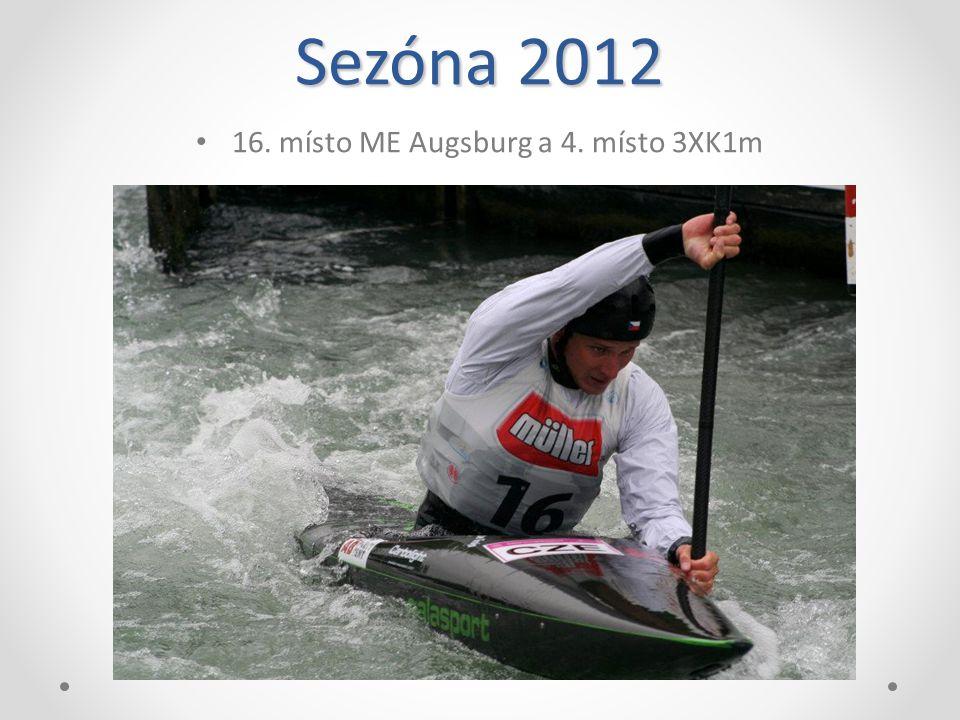 Sezóna 2012 Mistr české republiky ve vodním slalomu