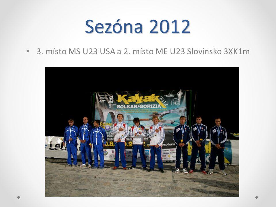 Sezóna 2012 3. místo MS U23 USA a 2. místo ME U23 Slovinsko 3XK1m