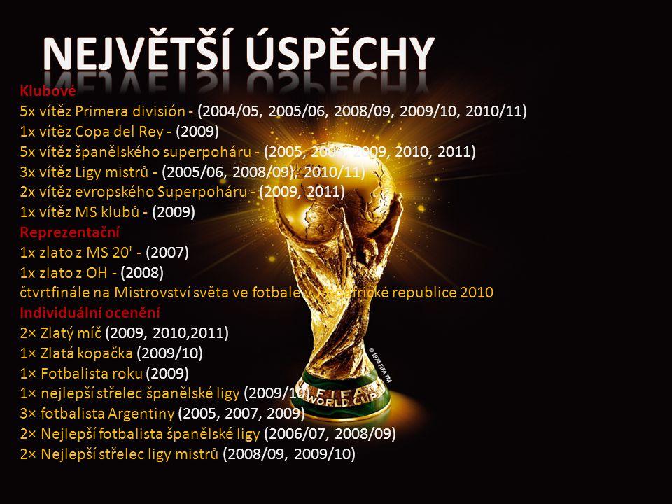 Klubové 5x vítěz Primera división - (2004/05, 2005/06, 2008/09, 2009/10, 2010/11) 1x vítěz Copa del Rey - (2009) 5x vítěz španělského superpoháru - (2