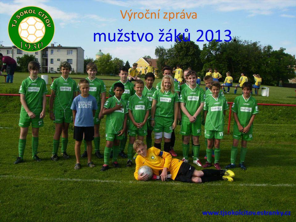 mužstvo žáků 2013. Výroční zpráva www.tjsokolcitov.estranky.cz