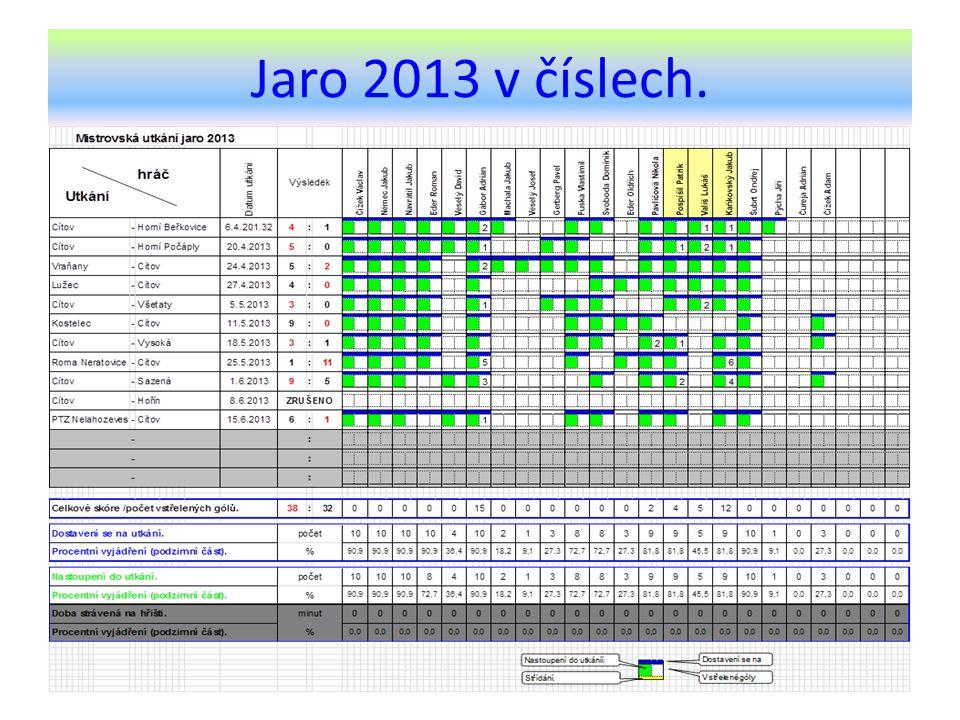 Jaro 2013 v číslech.
