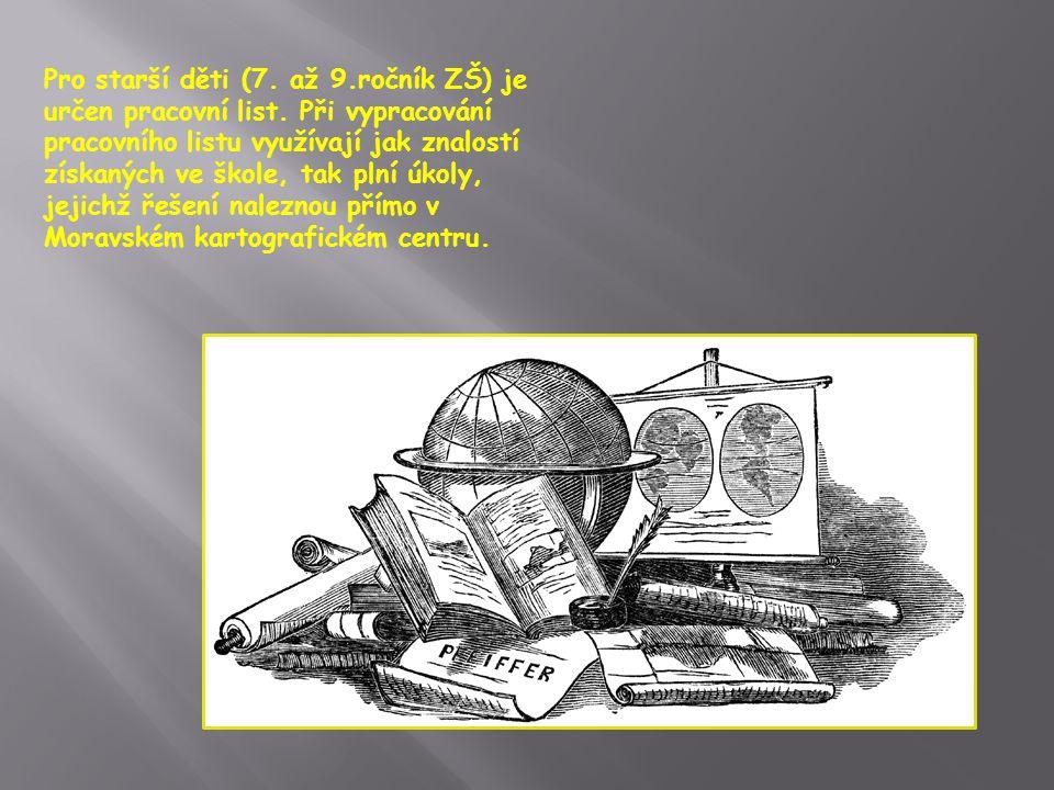 Pro starší děti (7. až 9.ročník ZŠ) je určen pracovní list.
