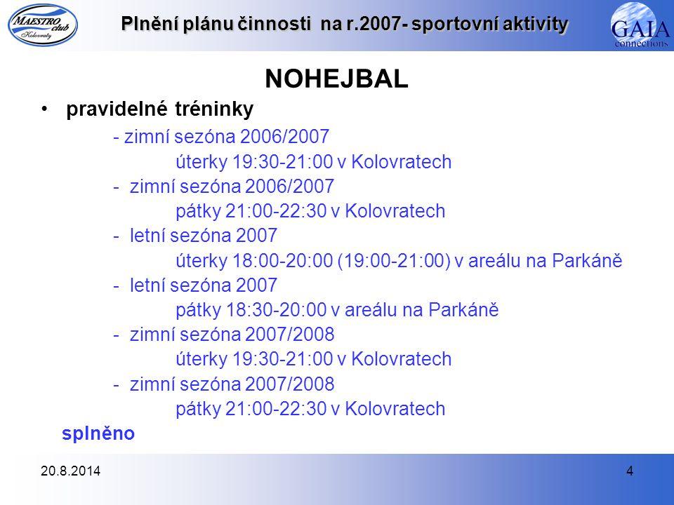 20.8.201415 Plnění plánu činnosti na r.2007- společenské a kulturní Vánoční besídka - 17.12.2007 pracuje se na přípravě