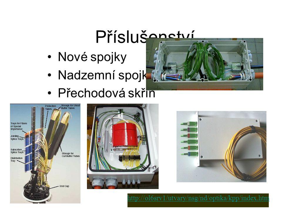 Příslušenství Nové spojky Nadzemní spojka Přechodová skříň http://ol6srv1/utvary/nsg/nd/optika/kpp/index.htm