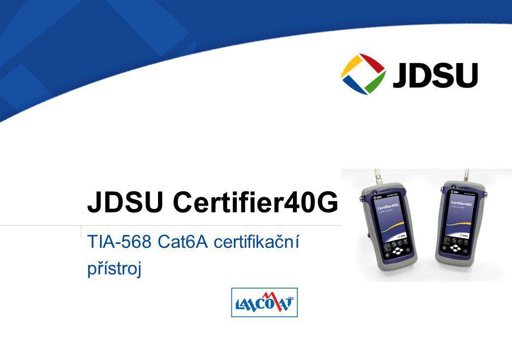 TIA-568 Cat6A certifikační přístroj JDSU Certifier40G