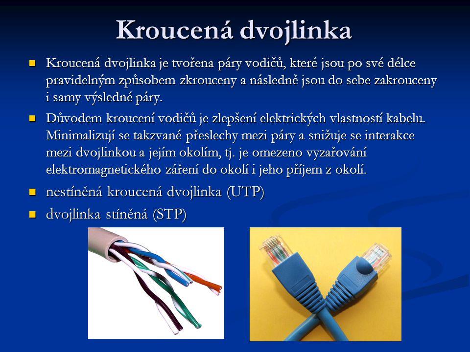 RJ-45 Koncovka RJ-45 je dnes nejčastěji používaný typ zapojení ethernetových kabelů UTP a STP.