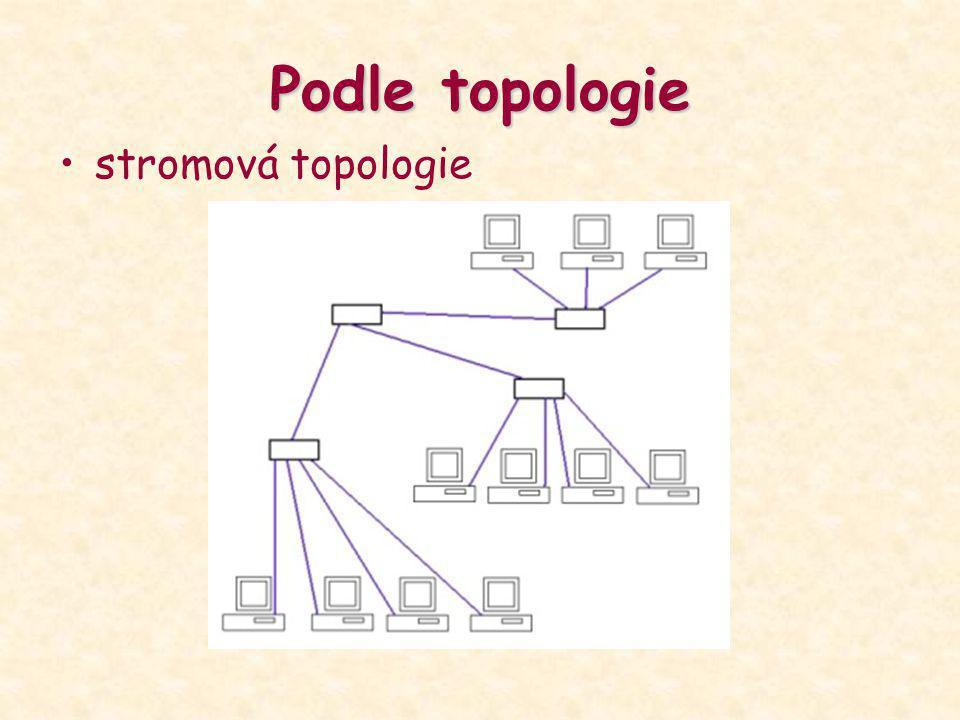 Podle topologie stromová topologie